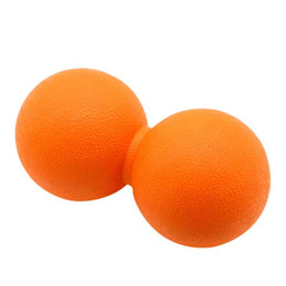TPE Lacrosse Ball Gym Fitness Ball Therapy Relax Exercise Peanut Massage Ball Relieve Stress Improve Blood Circulation on Sale