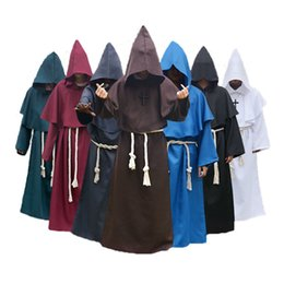 $enCountryForm.capitalKeyWord NZ - Umorden Comic Con Easter Purim Halloween Costume for Men Medieval Monk Priest Costumes Christian Friar Missionary Cosplay Robe