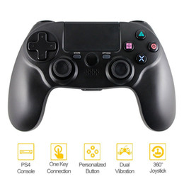 Ps4 Wireless NZ - PS4 Controller Wireless Bluetooth controller Wireless Gamepad for ps4 video games PlayStation 4 (PS4) black color retailing