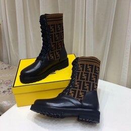 Flat bottom work boots online shopping - High Quality Branded Womens Ankle  Boots Fashion Comfortable knitted c50ddda6df