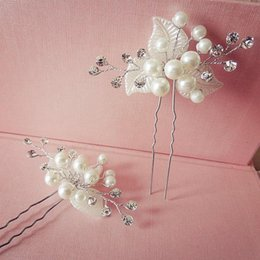 Drilling Pearl NZ - Bridal handmade pearl drill, flower silk hairpin, white wedding dress accessories