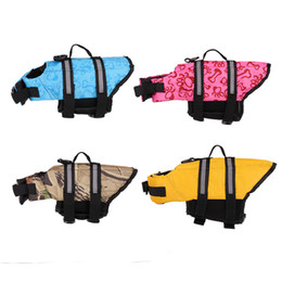 xs dog jacket Canada - Pet Dog Life Jackets Safety Vest XS-L Size Summer Clothes Tactic Golden Big Large Dog Pet Products For Dog Swimming Jacket