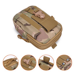 apple zipper bags UK - Outdoor Tactical Holster Military Molle Hip Waist Belt Bag Wallet Pouch Purse Zipper Phone Case for RugGear With Opp package