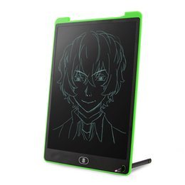 Tablets Writing Stylus UK - Wholesale Portable 12inch Green LCD Writing Tablet,Screen Lock Electronic Writing Board,Drawing Board,Notepad with stylus for Kids,Adults