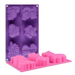 $enCountryForm.capitalKeyWord UK - Silicone cake mold Chocolate Mold candy moulds baking molds Cartoon animal shape cake frog tortoise hedgehog Cake molds embossed die CMM12