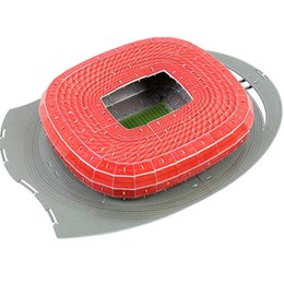 EnlightEn building blocks online shopping - Building Block Models D Puzzle Germany Munich Football Game Stadiums DIY Enlighten Brick Toys Scale Sets Paper Competition