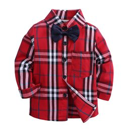 $enCountryForm.capitalKeyWord Australia - Cute Baby Kids Boys Girls Long Sleeve Shirt Plaids Checks Tops Blouse New Fashion Clothes KS-112