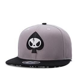 Skull Cap Ball Canada - New Women Skull Embroidered hip hop baseball cap Male fashion summer hat skate cap Ball Caps Grey