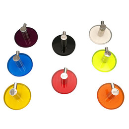 decorative kitchen hooks UK - Colorful Wall Hooks Decorative Wall Mounted Acrylic Stainless Steel Hook Hanging Hooks with 3M Self Adhesive for Bathroom Bedroom Kitchen