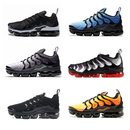 air plus shoes 2019 - With Box TN PLUs OliVe In Metallic White Silver Colorways ShOes For Casual Male Shoe Pack Triple Black Men airs tn Shoes