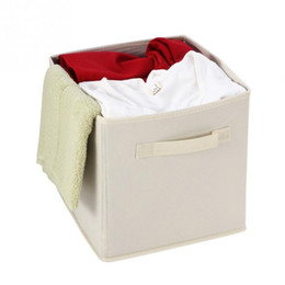 $enCountryForm.capitalKeyWord UK - Foldable Storage Cube Basket Bin Non-woven Storage Box Drawer Basket Bin Closet Clothing, Toys Storage Containers