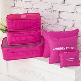 clothes japan 2018 - 6 Pcs Set Travel Home Luggage Storage Bag Clothes Storage Organizer Portable Cosmetic Bags Bra Underwear Pouch Storage B