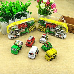 Wheels For Toys NZ - Hot Sale 6Pcs Lot Wheels Car 100% Original Basic Car Toy Mini Alloy Collectible Model Pull Back Cars Toy For Children Boys Gift