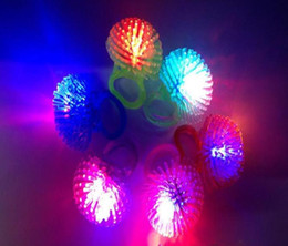 $enCountryForm.capitalKeyWord NZ - 1000pcs lot Free Shipping Soft Jelly Glowing In The Dark LED Glow Finger Rings Light For Wedding Birthday Party Favor