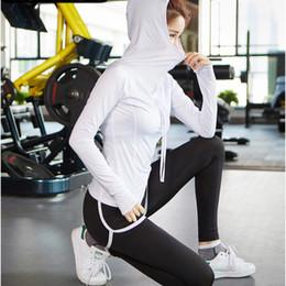long sports bras 2019 - Three Piece Yoga Sportswear Set Women Running Gym Fitness Sport Suit Hooded Long Sleeves Jacket+Bra+Leggings Jogging Tra