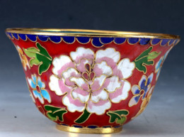 snake paintings Australia - Chinese Cloisonne Porcelain Hand-painted Flower Bowl