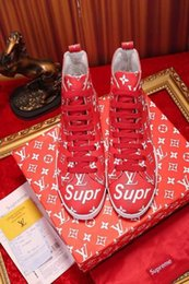 Printed Dress Elastic NZ - Printed red high-top flats 2010 guan Men Dress Shoes BOOTS LOAFERS DRIVERS BUCKLES SNEAKERS SANDALS