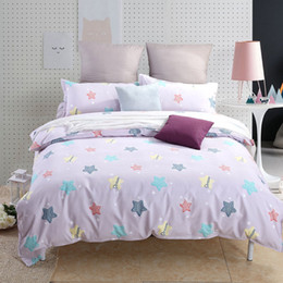 Wholesale Kids Bedding set queen size Boy Girl Pink VS Bull dog Pug Blue Flamingo Starfish Star Cat Stripe Beautiful Flowers Animal double