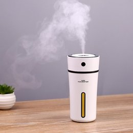 $enCountryForm.capitalKeyWord NZ - 300ml Cup Air Humidifier Essential Oil Aroma Diffuser Ultrasonic Humidifier Portable USB Cool Mist Maker with Night Light for Baby Room Car