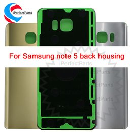 $enCountryForm.capitalKeyWord NZ - New Back Housing Glass For Samsung Galaxy Note 5 Back Cover Case Note5 N9200 SM-N920 N920F Battery Rear Door Replacement Parts