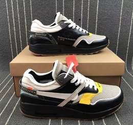 new concept 54164 47630 off Airs New White 1 Mens 87 Running Shoes Classic Maxes Men 1s Running  Shoes Black Grey Sport Sneakers Casual Shoe Outdoor Jogging shoes