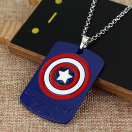 $enCountryForm.capitalKeyWord Canada - High Quality Captain America Marvel Necklaces & Pendants superhero vintage shield pendant logo jewelry for men and women