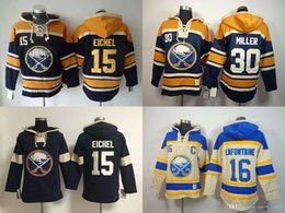 xl 16 sweatshirts hoodies UK - Buffalo Sabres hoodies cheap hockey jerseys hoody Sweatshirts EICHEL#15 MILLER#30 LAFONTAINE#16 navy cream 1pcs freeshipping