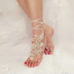 bridal anklets UK - Free Size Barefoot Sandals Anklet Chain With Toe Retaile Sandbeach Wedding Bridal Bridesmaid Foot Jewelry Wedding Accessory