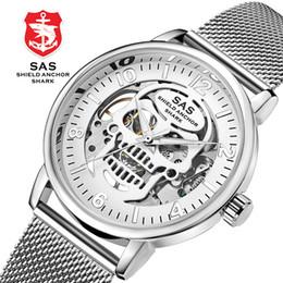 $enCountryForm.capitalKeyWord NZ - 2018 New Skull Mechanical Watch Men Luxury Silver Gold Skeleton Wrist Watch Luminous Waterproof Sport Watches Clock reloj hombre