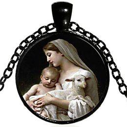 Spirit Pendants Australia - Christianity Blessed Virgin Mary Necklace Christian Holy Spirit Holy Father Holy Son Necklace Blessed Virgin Mary Son Pendant Necklace 648