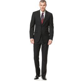 $enCountryForm.capitalKeyWord UK - 2018 Men Suits Black Notched Lapel Wedding Suits Business Bridegroom Groomsmen Custom Made Slim Fit Formal 2Piece Best Man Blazer Tuxedos