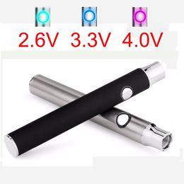 HasH vape pen online shopping - hash Glass cartridge preheat battery vaporizer pen mah top selling new style o pen vape LO VV battery in black and SS Color