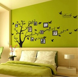 frame art for kids Canada - Large Size Black Family Photo Frames Tree Wall Stickers, DIY Home Decoration Wall Decals Modern Art Murals for Living Room