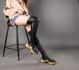 35c41b16f gold over knee boots 2019 - The best-selling women's luxury stretch boots,  women's