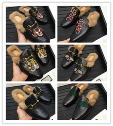 Brown leather slippers for men online shopping - 2018 Printed Animals Fur Men Slipper High Fashion Styles Outdoor Shoes Qulity original qulity really leather colors for choose