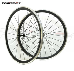 carbon wheels powerway Canada - FANTECY Free shipping Alloy Brake Surface wheels 38mm depth 23mm width Aluminum brake road bike carbon wheelset with Powerway R13 hub