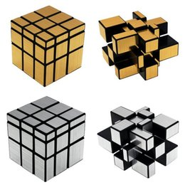 mirror puzzles 2019 - 2 colors Shaped Mirror Magic Square Children Puzzle Educational Toys Magics Cube Creative Gift Multi Color 3rd order cub