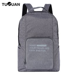 pack suitcase NZ - TUGUAN Mens Waterproof BackpacDouble Zipper Business Solid Folding Travel Duffle Back pack Pocket Travelling Bags