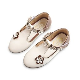 Sneaker Baby Flower Canada - Girls Shoes Autumn New Small Flowers Fashion Princess Children Single Shoes Kids Dancing Shoes Fashion Baby Girls Sneakers