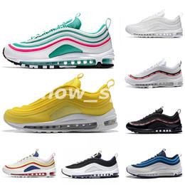 Discount sports south - South Beach 97 running shoes Triple white black yellow Runnershoe Og Metallic Gold Silver Bullet Men trainer 97s Women s