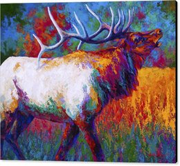 Giclee Art Canada - Y J ART Giclee Animal autumn oil painting arts and canvas wall decoration art Oil Painting on Canvas 60X90cm MRR0176