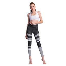 Black Blocks Canada - 2019 New Fashion Sexy Autumn Winter Women Trousers Leggings Pants Color Block Fitness Workout Printed Skinny Leggings Black