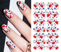 yellow flowering vines NZ - 1pc Star Magic Flower Vine Nail Water Sticker Leaf Lace Design Slider Nail Art Decal Beauty Foils Decoration Sticker m2195
