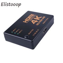 Discount 4k dvd - Elistooop 4K*2K HDMI Switch 3 Port Switcher Splitter Box Ultra HD for DVD HDTV Xbox PS3 PS4