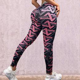 $enCountryForm.capitalKeyWord Australia - womens High waist digital printing striped woven sweatpants fitness yoga leggings size S M L XL