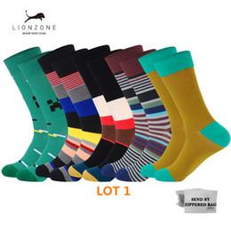 $enCountryForm.capitalKeyWord NZ - 5Pairs lot Combed Men's Fashion Dress Socks Cotton Colorful Wedding Crew Mens Socks Novelty Plant Sea Animal Patterned Soks