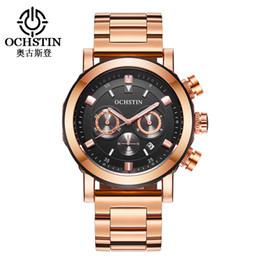 3966012291a OCHSTIN Auto Data Chronograph Sporty Assista Homens Top Marca de Luxo  Relógios de Quartzo dos homens de Aço Inoxidável Relógio de Pulso 064B