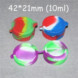 Silicone Toys Australia - reusable 10ml silicone wax box non-Stick silicone oil container for E-cig atomizer wax silicone jars dab wax container silicon mini oil rigs