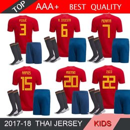 $enCountryForm.capitalKeyWord Canada - 2018 world Spain kids soccer Jersey kit socks RAMOS ISCO PIQUE SERGIO A. INIESTA M. ASENSIO THIAGO MORATA home shirt Football uniforms