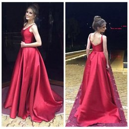 Red Scoop Back Prom Dress